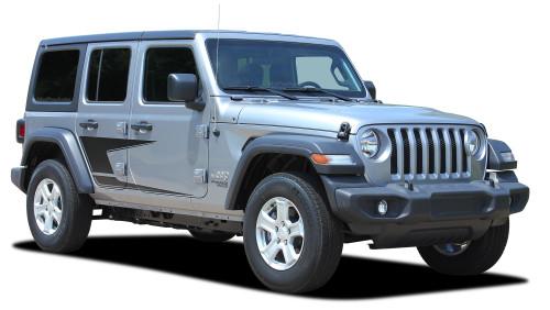 ADVANCE : Jeep Wrangler JL Side Door Vinyl Graphics Body Decal Stripe Kit for 2007-2017 2018 2019 2020 2021 Models (M-PDS-6425)