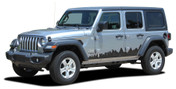 SCAPE : Jeep Wrangler JL Side Door Vinyl Graphics City Scene Body Decal Stripe Kit for 2007-2017 2018 2019 2020 2021 Models (M-PDS-6426)