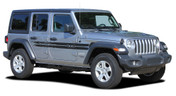 HAVOC : Jeep Wrangler JL Side Body Vinyl Graphics Door Decal Stripe Kit for 2018 2019 2020 2021 Models (M-PDS-6427)