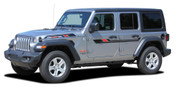 BYPASS : Jeep Wrangler JL Side Door Vinyl Graphics and Hood Decal Stripe Kit for 2007-2017 2018 2019 2020 2021 Models (M-PDS-6429)