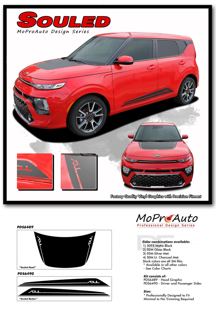 2020 2021 SOULED Kia Soul Decals - MoProAuto Pro Design Series Vinyl Graphics, Stripes and Decals Kit 2014 2015 2016 2017