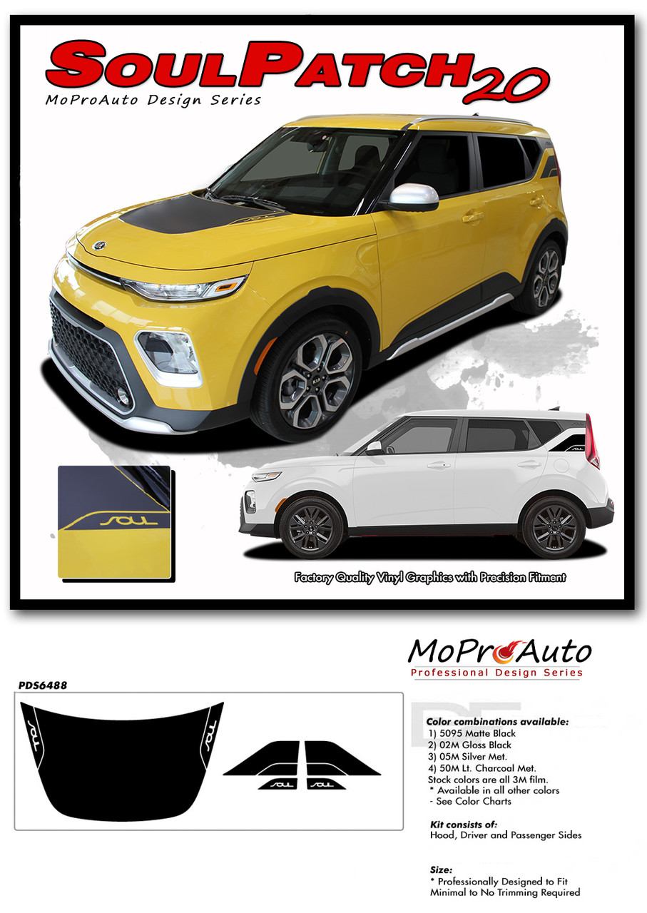 2020 2021 SOUL PATCH Kia Soul Decals - MoProAuto Pro Design Series Vinyl Graphics, Stripes and Decals Kit 2014 2015 2016 2017