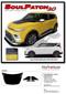 2020 SOUL PATCH : 2020 Kia Soul Hood Decals and Lower Rocker Panel Stripes Body Accent Vinyl Graphic Kit fits 2020 Kia Soul Models (M-PDS-6488) - Details