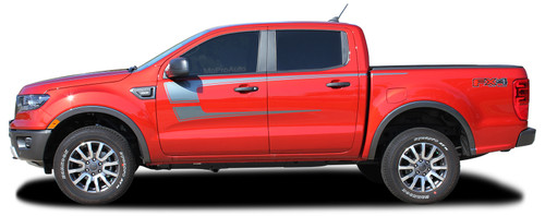 STRIKER : Ford Ranger Side Door Stripes Vinyl Graphics Decals Kit 2019 2020 (M-PDS-6543)