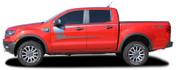 STRIKER : Ford Ranger Side Door Stripes Vinyl Graphics Decals Kit 2019 2020 2021 (M-PDS-6543)