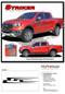 STRIKER : Ford Ranger Side Door Stripes Vinyl Graphics Decals Kit 2019 2020 - Details