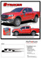 STRIKER : Ford Ranger Side Door Stripes Vinyl Graphics Decals Kit 2019 2020 - Details
