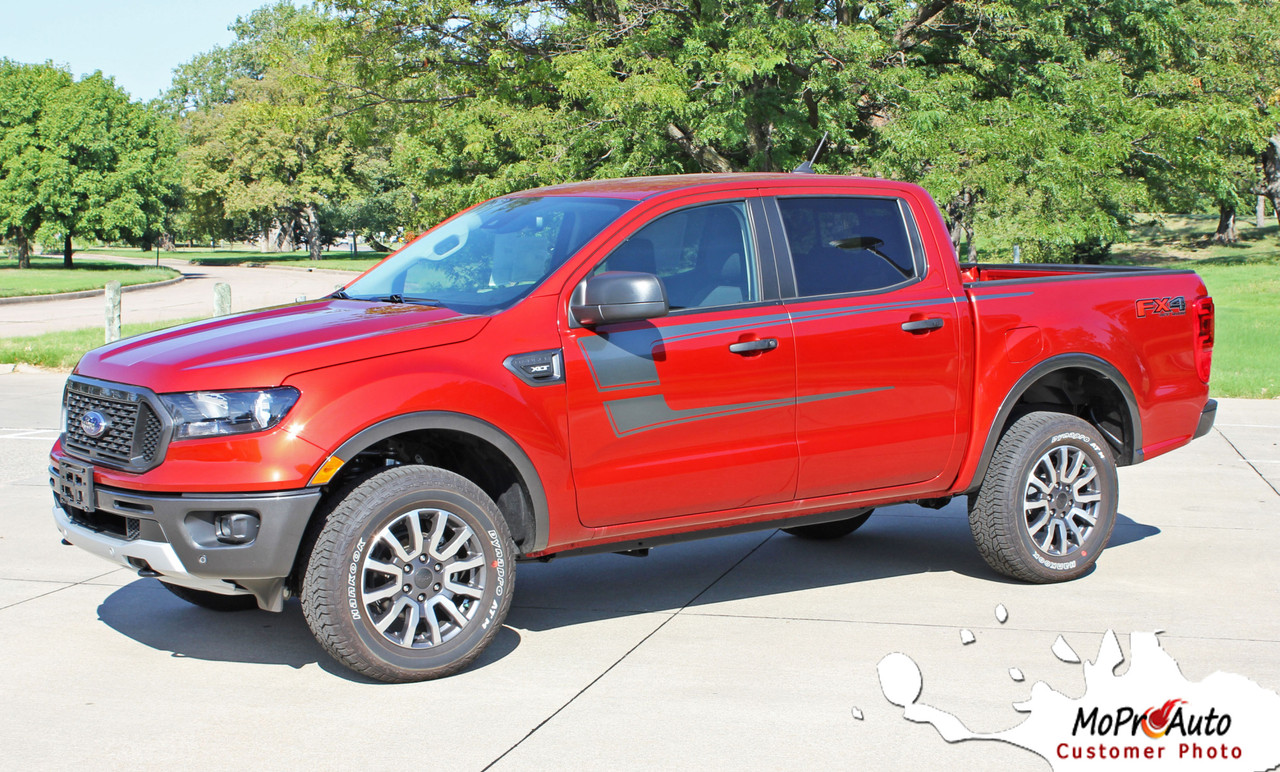 2019 2020 Ford  Ranger STRIKER Vinyl Graphics and Decals Kit - MoProAuto Pro Design Series