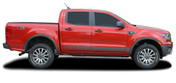 NOMAD ROCKERS : Ford Ranger Lower Rocker Panel Stripes Vinyl Graphics Decals Kit 2019 2020 2021 (M-PDS-6544)