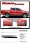 NOMAD ROCKERS : Ford Ranger Lower Rocker Panel Stripes Vinyl Graphics Decals Kit 2019 2020 - Details