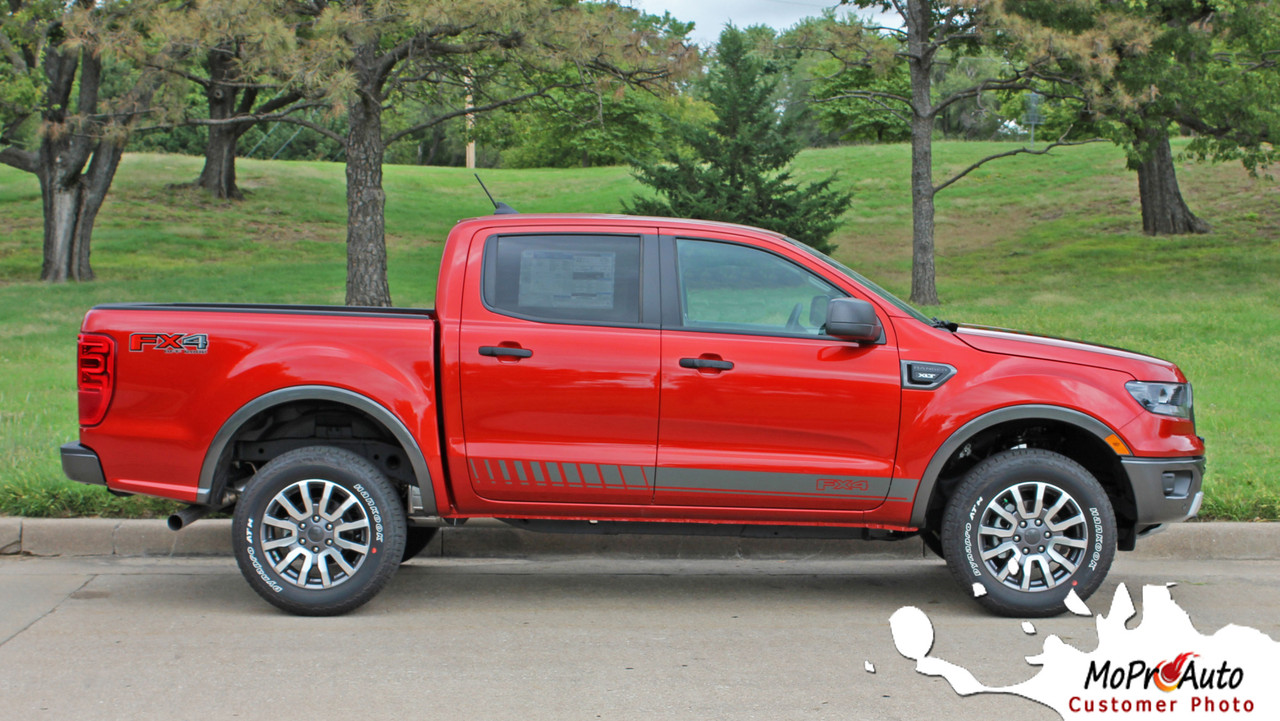2019 2020 Ford  Ranger NOMAD ROCKER Vinyl Graphics and Decals Kit - MoProAuto Pro Design Series