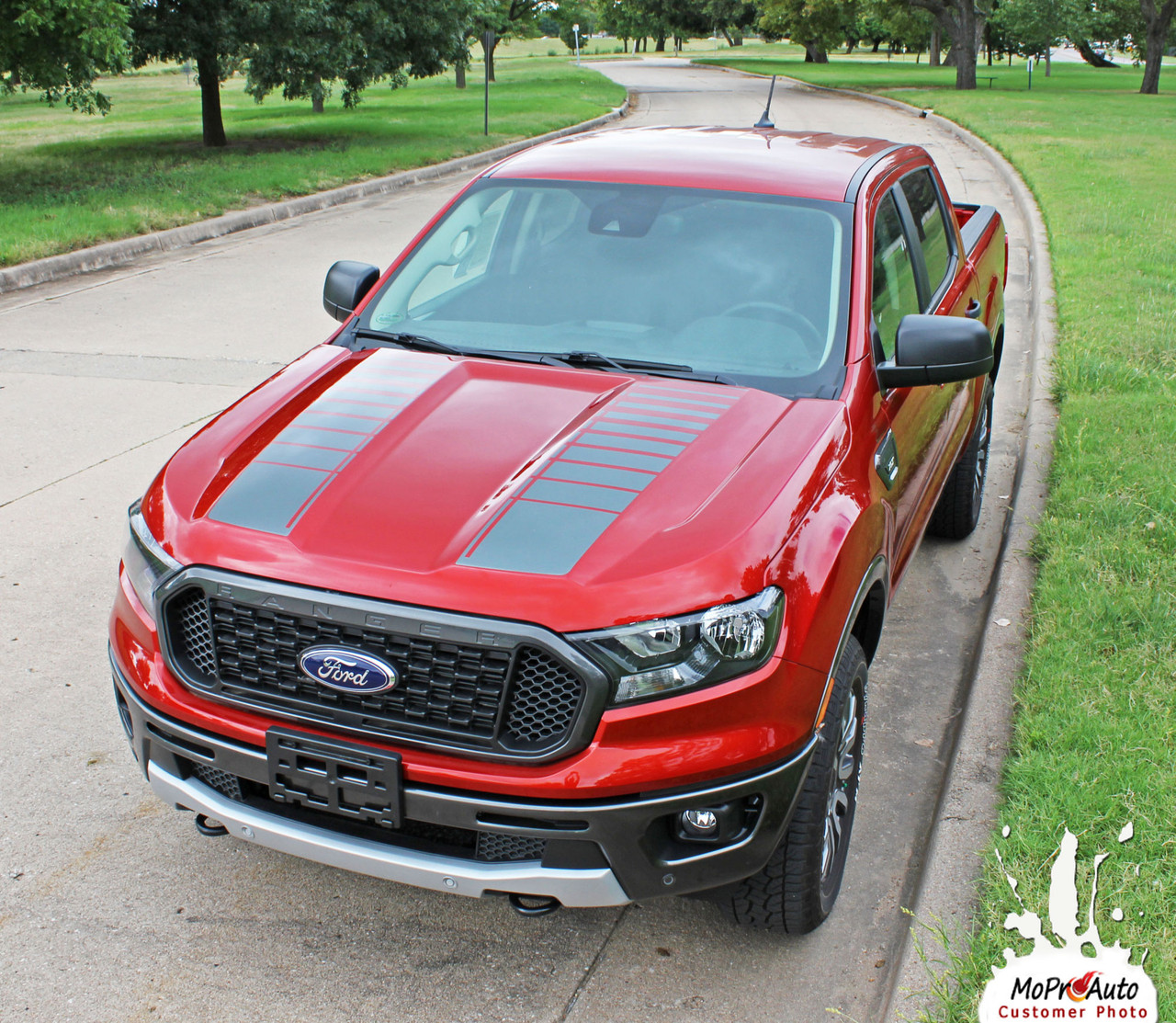 2019 2020 Ford  Ranger NOMAD HOOD Vinyl Graphics and Decals Kit - MoProAuto Pro Design Series