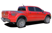 GUARDIAN : Ford Ranger Rear Bed Stripes Vinyl Graphics Decals Kit 2019 2020 (M-PDS-6546)
