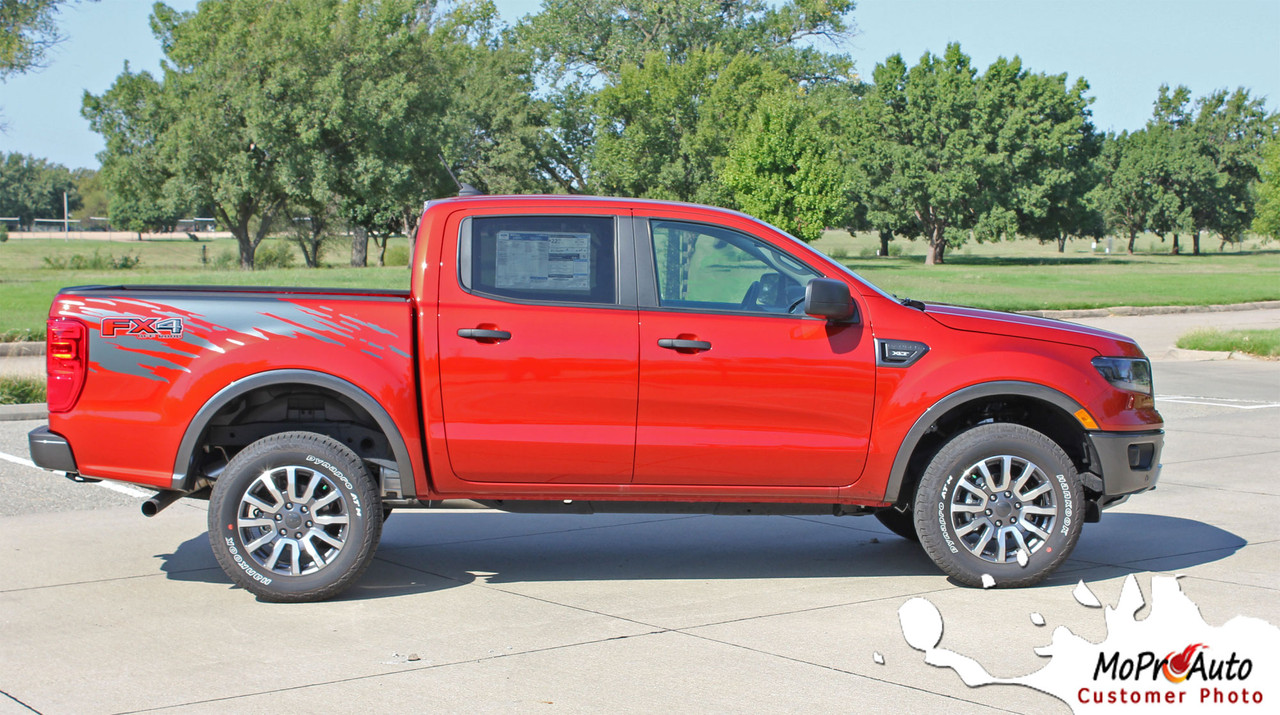 2019 2020 Ford  Ranger GUARDIAN Vinyl Graphics and Decals Kit - MoProAuto Pro Design Series