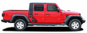 OMEGA SIDES : Jeep Gladiator Side Door Star Vinyl Graphics Body Decal Stripe Kit for 2020-2021 Models (M-PDS-6693)