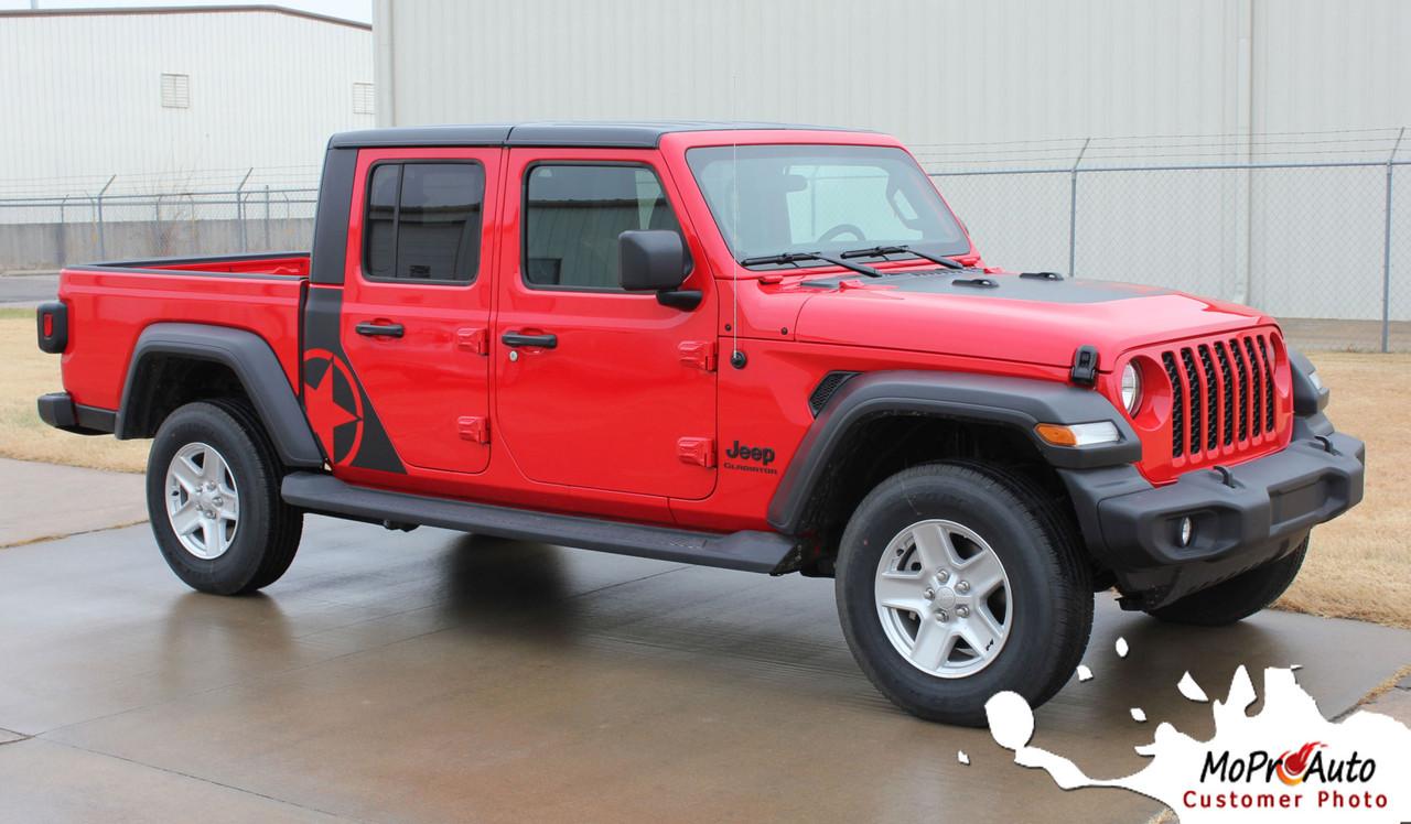 omega sides  jeep gladiator side door star vinyl graphics