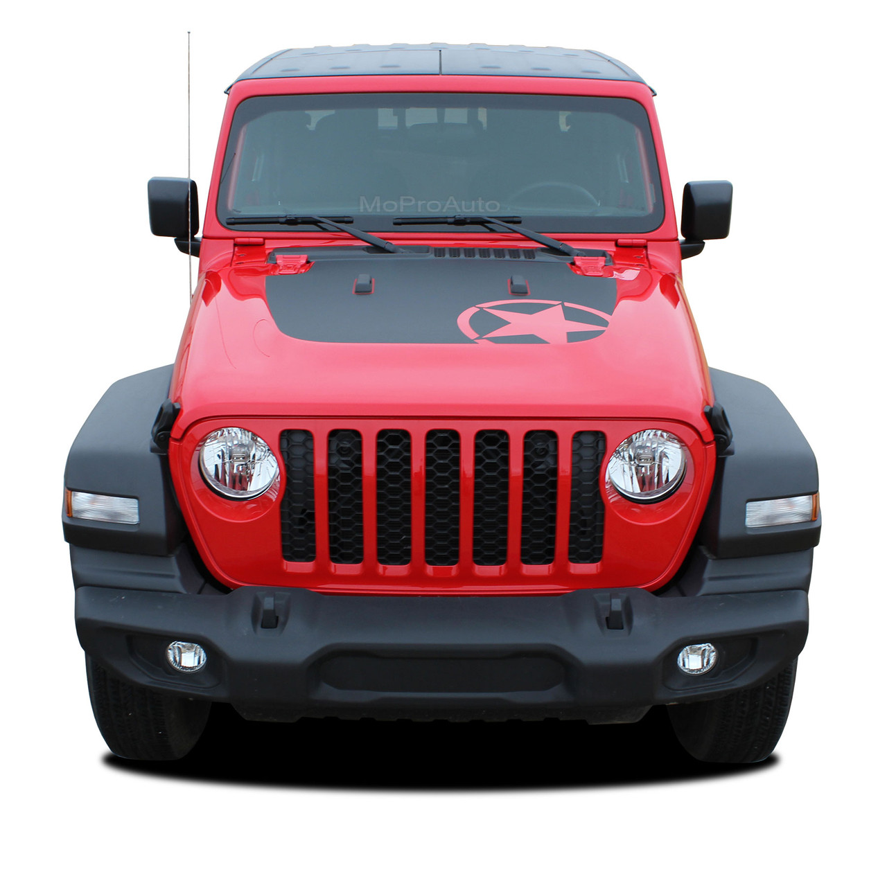 omega hood  jeep gladiator hood decals with star vinyl