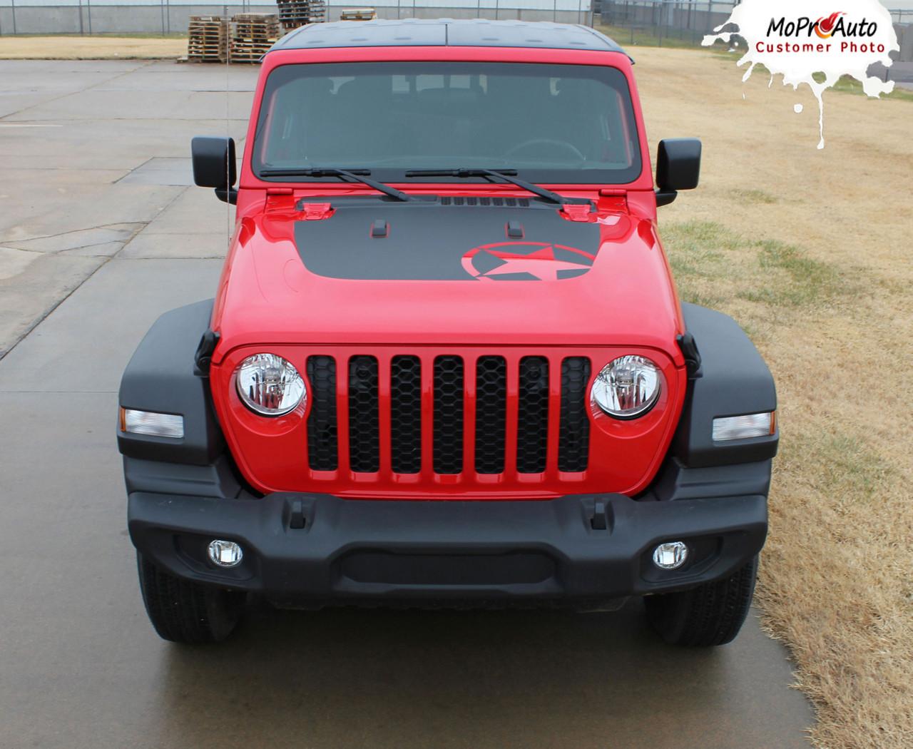 Jeep Gladiator Hood Decals, Jeep Gladiator Stripes, Gladiator Graphics