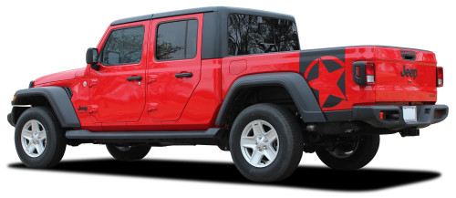 BOOTSTRAP : Jeep Gladiator Side Body Star Vinyl Graphics Decal Stripe Kit for 2020-2021 Models (M-PDS-6715)