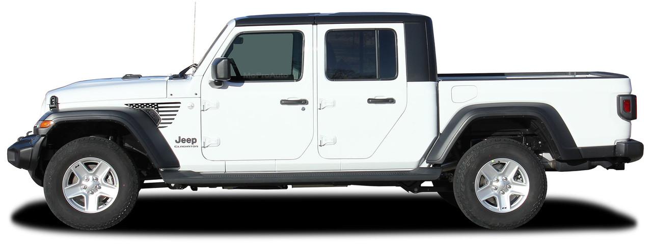 patriot  jeep gladiator side body star vinyl graphics