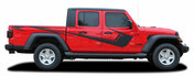 PARAMOUNT SOLID COLOR : Jeep Gladiator Side Body Vinyl Graphics Decal Stripe Kit for 2020-2021 Models (M-PDS-6718)