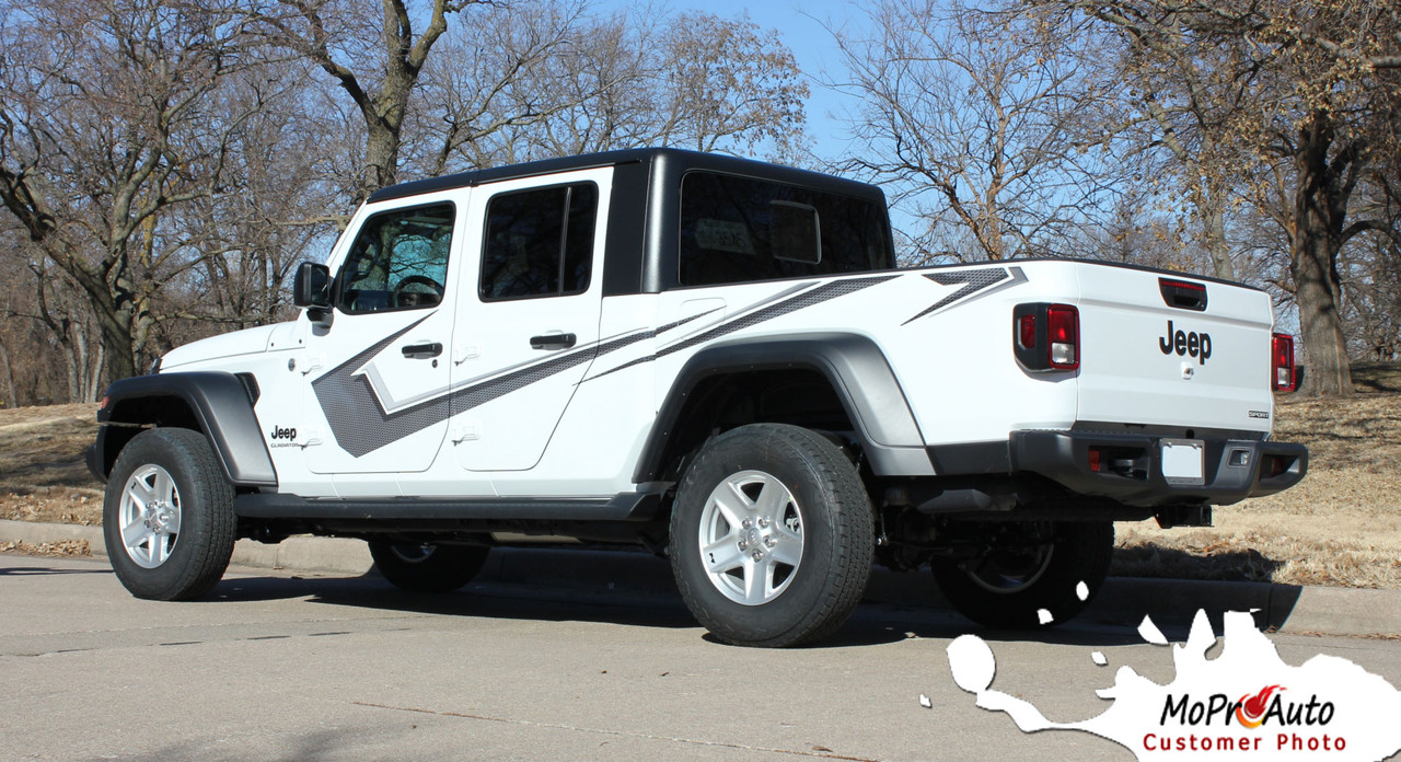 paramount solid  jeep gladiator side body vinyl graphics