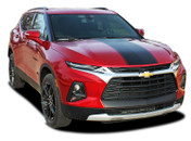 HOT STREAK : 2019 2020 2021 Chevy Blazer Hood Stripes and Front Fascia Blackout Decal Vinyl Graphics Kit (M-PDS-6814)