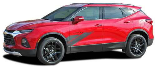 SIDEKICK : 2019 2020 2021 Chevy Blazer Side Door Stripes Body Decals Accent Vinyl Graphics Kit (M-PDS-6819)