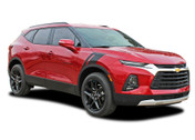 TORCH: 2019, 2020 Chevy Blazer Fender Stripes Hood Double Bar Decals Accent Vinyl Graphics Kit