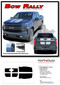 BOW RALLY : Chevy Silverado Racing Stripes Hood Decal Vinyl Graphic Kit fits 2019 2020 - Details