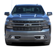 HOOD SPIKES 1500 : Chevy Silverado Hood Spike Decals Hood Spear Stripes Vinyl Graphic Kit fits 2019 2020 2021 (M-PDS-6877)