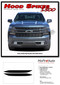 HOOD SPIKES 1500 : Chevy Silverado Hood Spike Decals Hood Spear Stripes Vinyl Graphic Kit fits 2019 2020 - Details