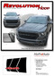 REVOLUTION 1500 HOOD : 2019 2020 Dodge Ram 1500 Hood Decals Vinyl Graphic Stripe Kit - Details