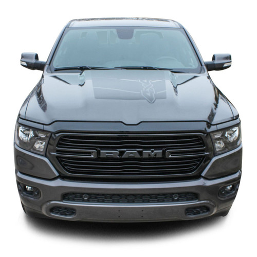 REVOLUTION 1500 HOOD : 2019 2020 Dodge Ram 1500 Hood Decals Vinyl Graphic Stripe Kit (M-PDS-6956)