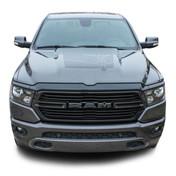 REVOLUTION 1500 HOOD : 2019 2020 2021 Dodge Ram 1500 Hood Decals Vinyl Graphic Stripe Kit (M-PDS-6956)