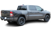 REVOLUTION 1500 SIDES : 2019 2020 Dodge Ram 1500 Side Bed Decals Vinyl Graphic Stripe Kit (M-PDS-6958)