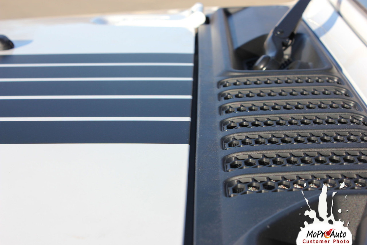 alpha star hood  jeep gladiator hood graphics with star