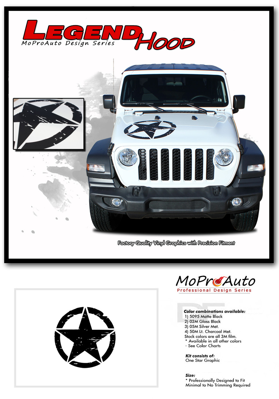 2020, 2021 Jeep Gladiator Decals - MoProAuto Pro Design Series Vinyl Graphics and Stripes Kit