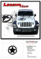 LEGEND STAR HOOD : Jeep Gladiator Hood Graphics with Distressed Star Vinyl Decals Stripe Kit for 2020-2021 Models - Details