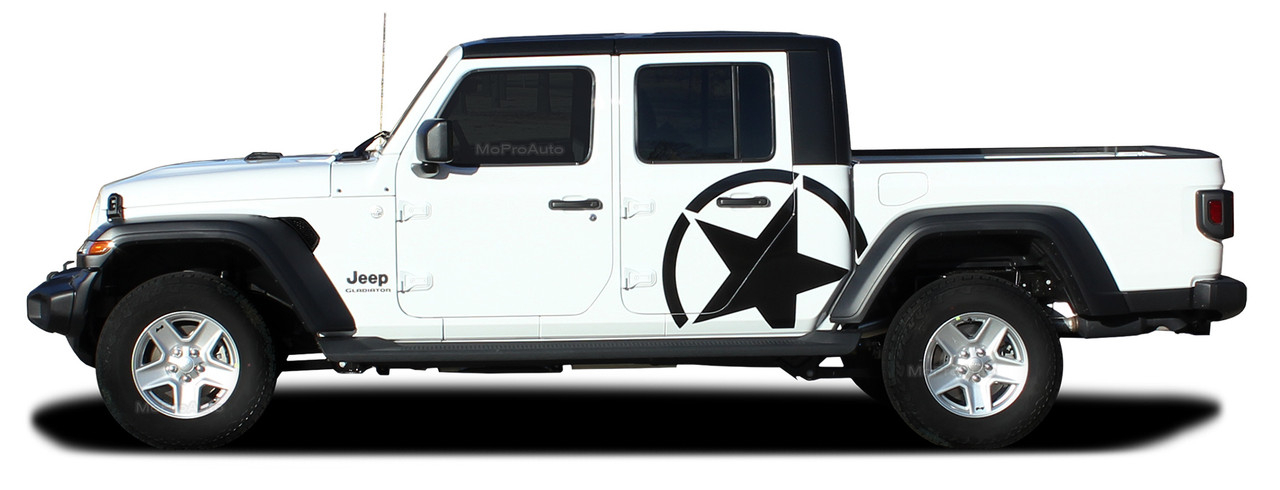 alpha star sides  jeep gladiator side body star vinyl