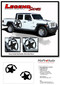 LEGEND STAR SIDES : Jeep Gladiator Side Body Distressed Star Vinyl Graphics Decal Stripe Kit for 2020-2021 Models - Details