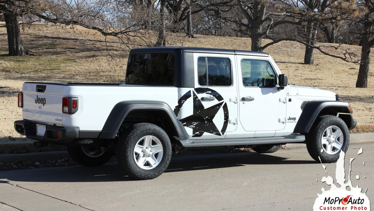Jeep Gladiator Body Decals, Jeep Gladiator Door Stripes, Gladiator Graphics