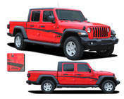 MEZZO : Jeep Gladiator Side Body Door Vinyl Graphics Decal Stripe Kit for 2020-2021 Models (M-PDS-7010)