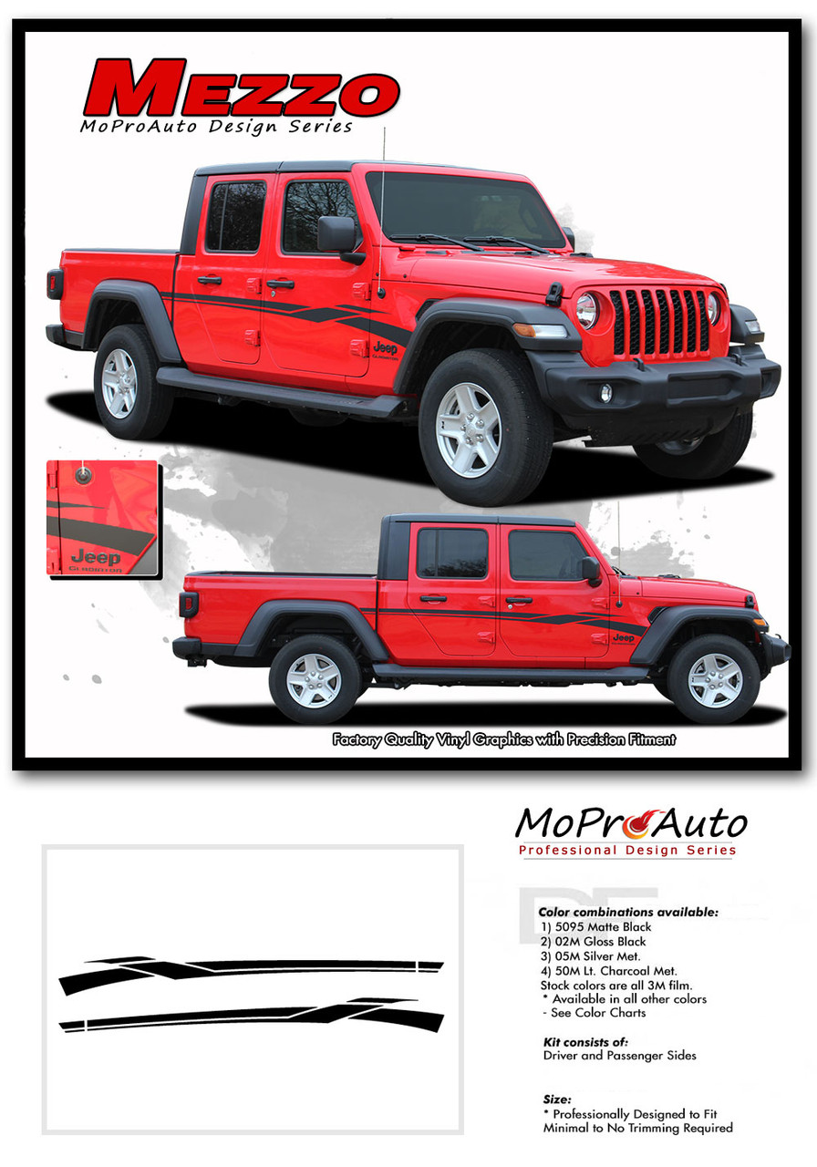 mezzo  jeep gladiator side body door vinyl graphics decal