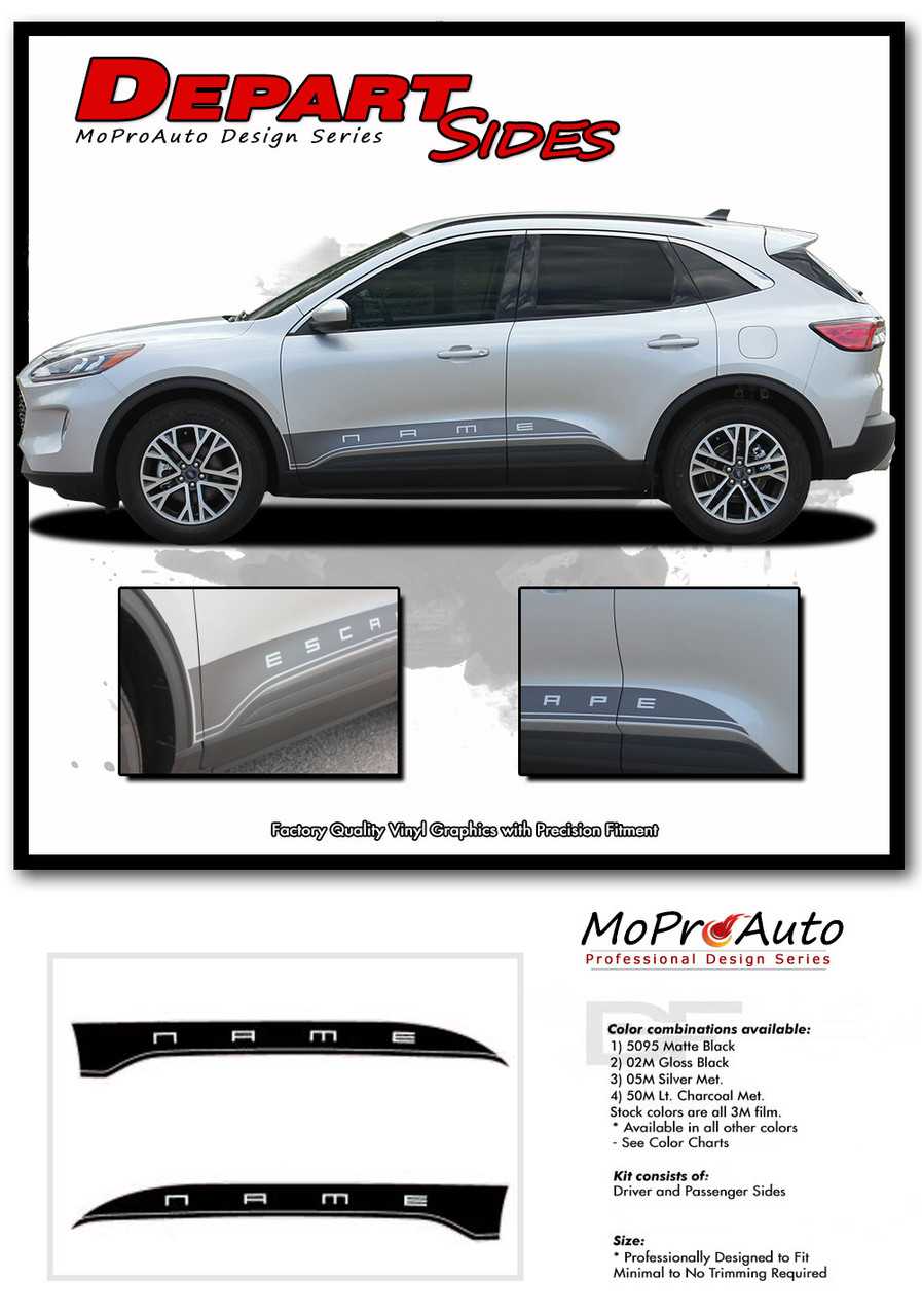 2020 2021 Depart Ford Escape Vinyl Graphics, Stripes and Decals Kit