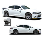 RILED : Dodge Charger Body Stripes Side Door Decals Vinyl Graphics fits 2015-2021 (M-PDS-7144)
