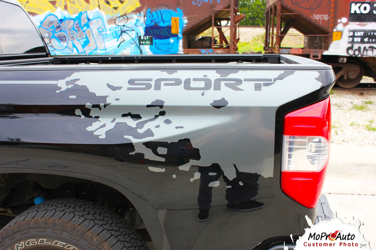 BURST Toyota Tundra  Body Accent Striping Vinyl Graphic Decal Kit