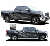 FRENZY : Toyota Tundra Side Body Vinyl Graphics Splash Design Decal Stripes Kit for 2015-2021 Models (M-PDS-7208)