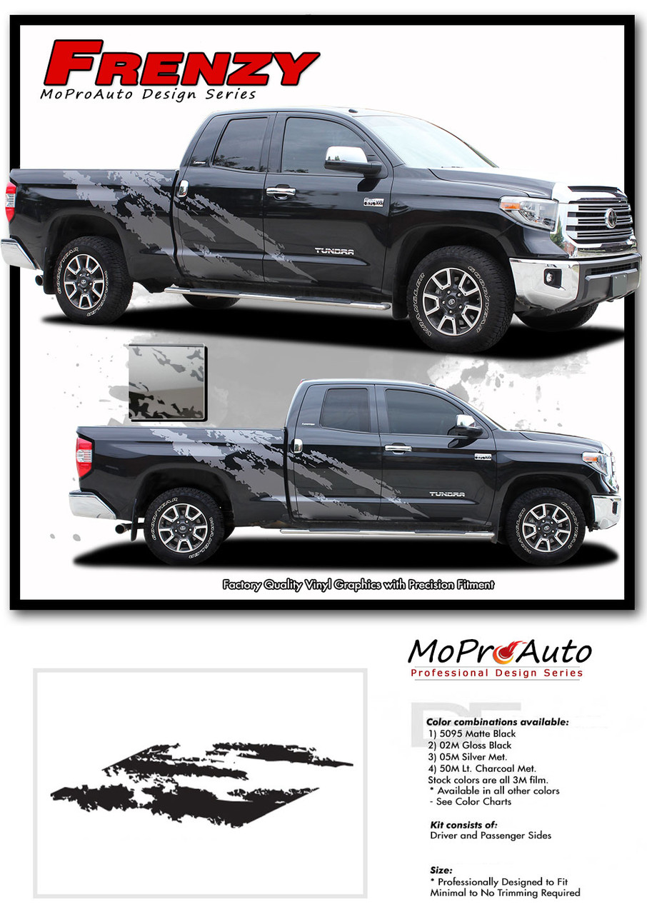 FRENZY TOYOTA TUNDRA Pro Vinyl Graphics Stripes and Decals Kit