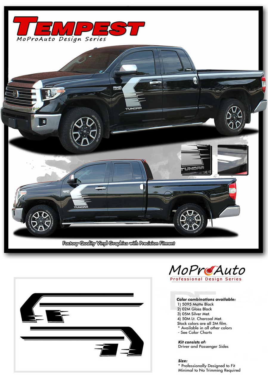 TEMPEST TOYOTA TUNDRA Pro Vinyl Graphics Stripes and Decals Kit